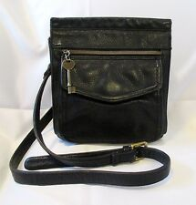 BEAUTIFUL FOSSIL NEW AMERICAN CLASSIC BLACK LEATHER CROSS BODY SHOULDER BAG