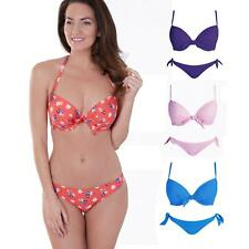 Lepel Daisy Print Padded Push Up Bikini Top or Classic Pant 32 to 38 A to DD