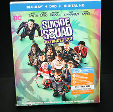 Suicide Squad (Blu-ray/DVD) Extended Cut Digital HD Jared Leto Will Smith