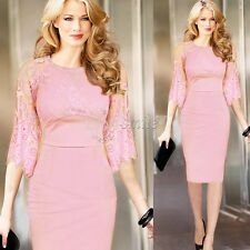 Sexy Women Bodycon Skirt Lace Summer Evening Casual Party Cocktail Pencil Dress