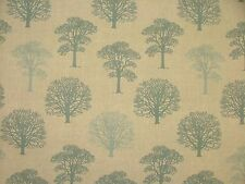 Duckegg Trees Linen Cotton Designer Curtain Blinds Craft Upholstery Tree Fabric