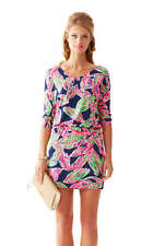168.00 NWT LILLY PULITZER CARA DRESS DRESS BRIGHT NAVY IN THE VIAS XS