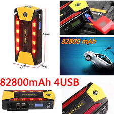 82800mAh Car Auto Jump Starter Pack Booster Battery Charger 4 USB Power Bank 12V