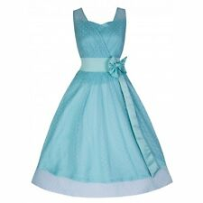 NEW VINTAGE 50'S STYLE ELLA POWDER BLUE ROCKABILLY SWING PARTY DRESS