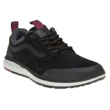 New Mens Vans Black Iso 3 Mte Suede Trainers Retro Lace Up