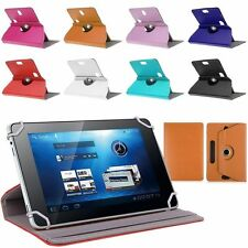 """360° Folio Leather Case Cover For Universal Android Tablet PC PDA 7"""" 8"""" 9"""" 10"""""""