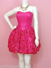 Betsey Johnson ROSE TOPIARY STRAPLESS DRESS 4 6 10 PINK PROM HOMECOMING COCKTAIL