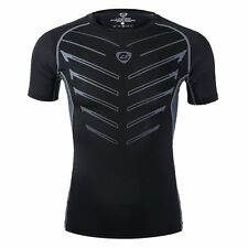 Men's Compression Under Base Layer Top Short Sleeve Tight Fitness Sport T-shirt