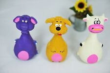 """New ELEPHANT DOG OR COW Squeaky Rubber 5"""" Puppy Dog Pet Toy Toys Free Shipping"""