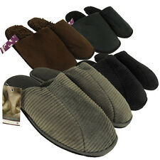 Mens Faux Suede Luxury Mule Slipper Quality Mules Slippers Sizes 7 8 9 10 11 12