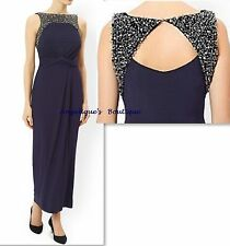 MONSOON MORIARTY NAVY BLUE EMBELLISHED COCKTAIL PARTY MAXI DRESS SIZE 8-20 NEW