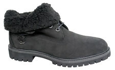 Timberland AF Roll Top Woolrich Mens Boots Black Leather Winter 1039R D32