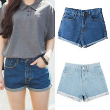 Fashion Womens Girl Denim High Waist Lady Shorts Jeans Pants Vintage Casual