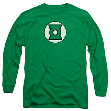Justice League Green Lantern Logo Mens Long Sleeve Shirt KELLY GREEN