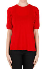 PRADA New woman Red Short Sleeves Sweater Cashmere Made in Italy