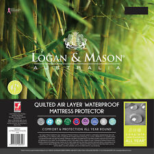 Logan and Mason QUILTED AIR LAYER™ WATERPROOF FITTED MATTRESS PROTECTOR 6 Sizes