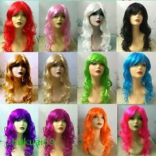 Women's Sexy Long Curly Wigs Period Costume Cosplay Party Full Wig Free Shipping