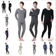Mens 2 PCS Thermal Underwear Tops+Pants Long Sleeve Warm Johns Shirt Full Set