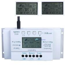 LCD 10/20/30/40A 12-24V MPPT Solar Panel Regulator Charge Controller 3 Timer MTC