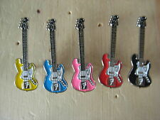 Fender guitar pin badge. Choice of 6 colours. Red Blue Black pink green yellow