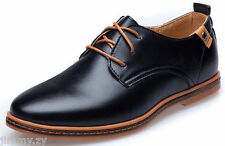 New Mens Fashion Casual/Dress Formal Oxfords Flats Shoes England Lace Up Shoes