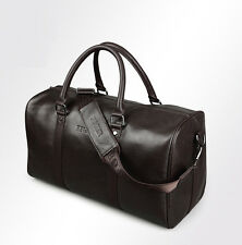 Men's Large Genuine Leather Duffle Gym Bags Luggage Handbag Shoulder Weekend bag