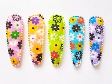 36 pcs - New Daisy Flower Hair Clip COVERS Mix Colors - size 55 mm