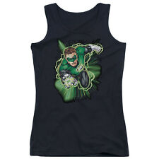 Justice League Green Lantern Energy Juniors Tank Top Shirt BLACK