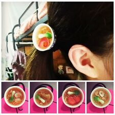Girl Hair Ties Rope Verisimilar Food Clip Band Ponytail Ring Holder Accessories
