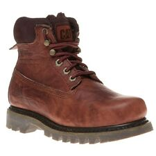 New Womens Caterpillar Tan Bruiser Leather Boots Ankle Lace Up