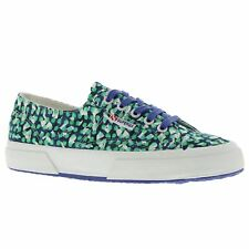 Superga 2750 Fabriclibertyw Blue Green Womens Low Top Trainers