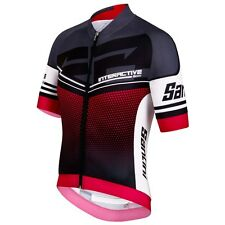 Interactive 3.0 Cycling Jersey in Red. Made in Italy by Santini.