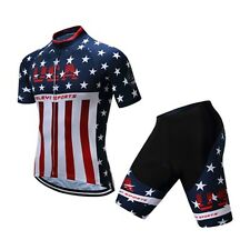 New Men Bike Jersey Cycling Bib Shorts MTB Ride Sport Team Bicycle Short Sleeve