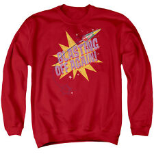 Astro Pop Blast Off Mens Crewneck Sweatshirt Red