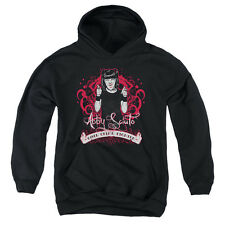 NCIS Goth Crime Fighter Big Boys Youth Pullover Hoodie BLACK