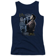 Elvis Presley Tupelo Juniors Tank Top Shirt NAVY