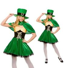 Adults Lucky Leprechaun Ladies Deluxe Irish Fancy Dress Costume Sizes 8 to 24