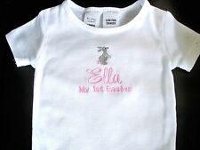 Personalised Baby 1st Easter Onesie Romper Bodysuit   Baby Gift Twins Any Name