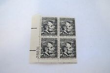"""Vintage """"LINCOLN"""" - Mint NH Block of 4-- 4 Cent Postage Stamps Black/White"""