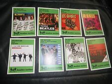 THE BEATLES GLOBAL COVERS OF FAMOUS UK RELEASES TRADING CARDS SET OF 8 CARDS