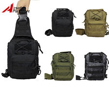 Molle Tactical Military Shoulder Bag Backpack Outdoor Camping Hiking Chest Bag