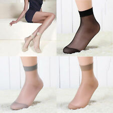 5 Pairs Ultra-thin Fiber Pure Colors Ankle High Pop Short Socks For Girls New
