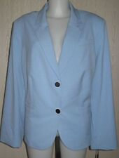Anne Klein two button Plus size Jacket Blazer Blue sz 20W-22W $139 NEW