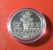 2005 Norfed Silver Proof $20 AMERICAN LIBERTY USA Trust in God 1 oz .999 Silver