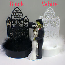 Frankenstein & Bride Wedding Cake Topper Halloween Sexy Bride and Groom Top PICK