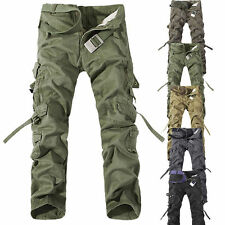 MENS FASHION ARMY CARGO WORK PANTS CASUAL CAMO MILITARY TROUSERS NEW