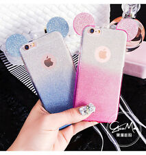 New Cute Disney Bling Glitter Mickey TPU Soft Case Cover For iPhone 6/6S 6 Plus