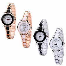 Analog Quartz Wrist Watch Womens Luxury Fashion Watch Stainless Steel Bracelet C