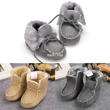 Baby Infant Boy Girl Toddler First Walker Fashion Soft Sole Faux Suede S0BZ