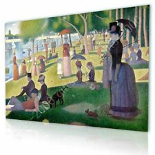 Alonline Art - CANVAS (Rolled) Sunday Afternoon Georges Seurat Painting